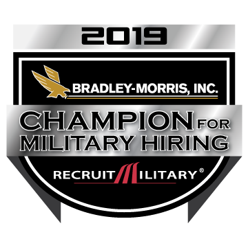 BMI Champion for military hiring badge