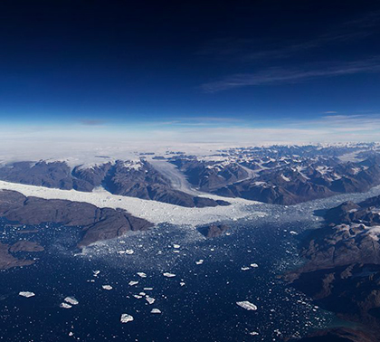 satelite images of glaciers on Greenland